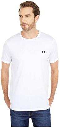 Fred Perry Ringer T-Shirt (White) Men's T Shirt
