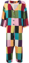 House of Holland colour block grid jumpsuit