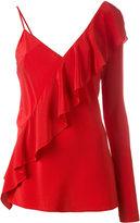 Diane von Furstenberg single sleeve ruffled blouse - women - Silk - 6
