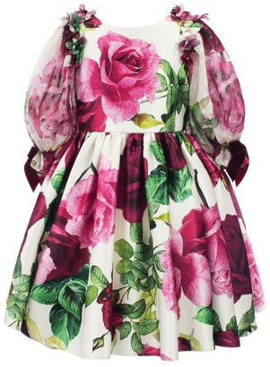 David Charles Floral Pleated Dress (3-12 Years)