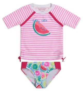 Tommy Bahama Watermelon Printed Rashguard Two-Piece Swimsuit Girls 4-16