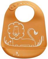 Modern Twist Bucket Bib - Silicone - Dandy Lion - Orange