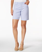Charter Club Printed Denim Shorts, Created for Macy's