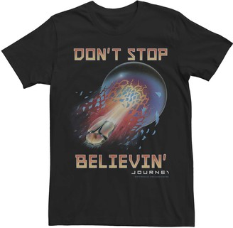 Licensed Character Men's Journey Don't Stop Believin' Album Cover Tee