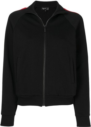 agnès b. Stripe Trim Track Jacket