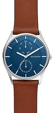 Skagen Brown Leather Strap Holst Watch, 40mm
