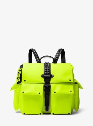 MICHAEL Michael Kors Olivia Medium Studded Neon Satin Backpack