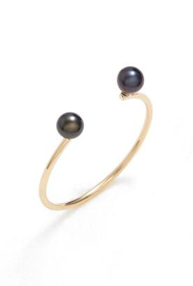 Poppy Finch Skinny Pearl Open Ring