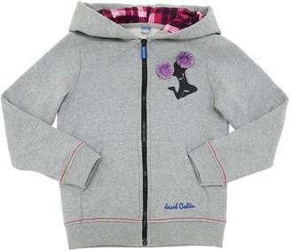 Jacob Cohen Embellished Cotton Sweatshirt Hoodie
