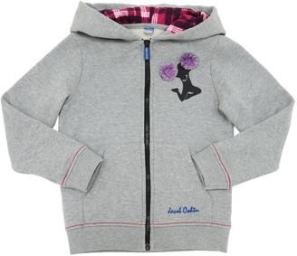 Jacob Cohen EMBELLISHED COTTON SWEATSHIRT HOODIE