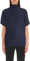 Issey Miyake High-neck pleated top