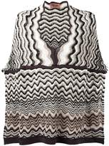Missoni wave knit poncho