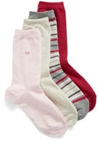 Calvin Klein 'Light Sparkle' Crew Socks (4-Pack)