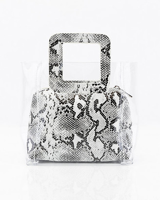Le Château Snake Embossed Pouch & Transparent Tote