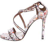 Tabitha Simmons Leather Printed Sandals