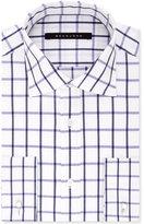 Sean John Classic/Regular Fit Men's Big and Tall Classic Fit Purple Check Dress Shirt