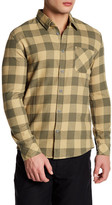 Quiksilver Long Sleeve Checkered Print Modern Fit Shirt