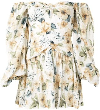 Bec & Bridge Fleurette floral-print mini dress