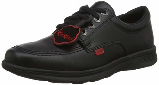 Kickers Teen Kelland Lace Up Black Leather Shoes