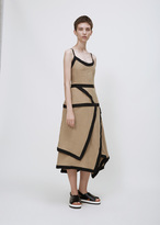 J.W.Anderson taupe contrast cami dress