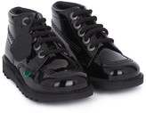 Kickers Patent Black Kick High Boots