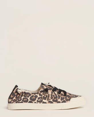 Tretorn Camel & Black Meg Slip-On Sneakers