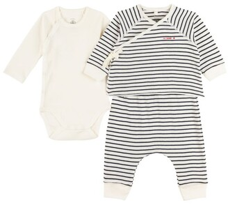 Petit Bateau T-Shirt, Leggings And Bodysuit Set (0-18 Months)