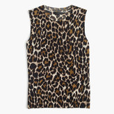 J.Crew Lightweight wool Jackie sweater shell in leopard
