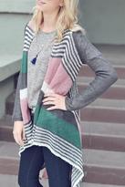 Double Zero Knit Stripe Cardigan