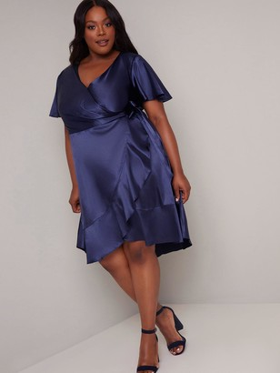 Chi Chi London Curve Gillie Dress - Navy