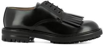 Alexander McQueen Men's Black Leather Lace-up Shoes.