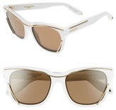 Givenchy Women's 56Mm Cat Eye Sunglasses - White