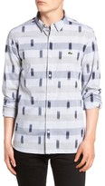 Lacoste Men's L!ve Print Woven Shirt