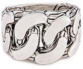 John Hardy Silver chain effect ring