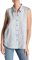 Marrakech Linen Collared Tank