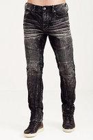 True Religion Rocco Skinny Acid Wash Corduroy Moto Mens Pant