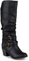 Journee Collection Black Late Wide-Calf Boot