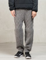 snow peak Grey Wool Knit Pants