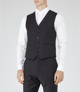 Reiss Gaffer W - Check Weave Waistcoat in Grey, Mens