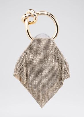 Benedetta Bruzziches Casper Little Metal Mesh Clutch Bag, Silver