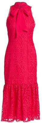 ML Monique Lhuillier Bow-Tie Lace Dress