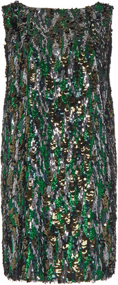Prada Bark Sequin Mini Dress
