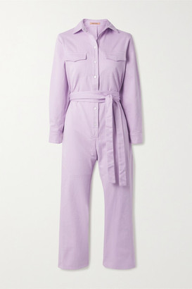 Maggie Marilyn + Net Sustain Bite The Bullet Organic Denim Jumpsuit - Lilac