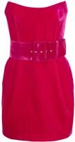 Rasario strapless velvet dress