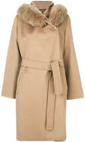 Max Mara Studio fur trim hooded coat