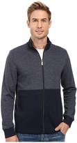 Perry Ellis Classic Full Zip Herringbone Knit Jacket