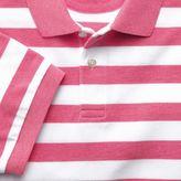 Charles Tyrwhitt Dark pink stripe pique polo