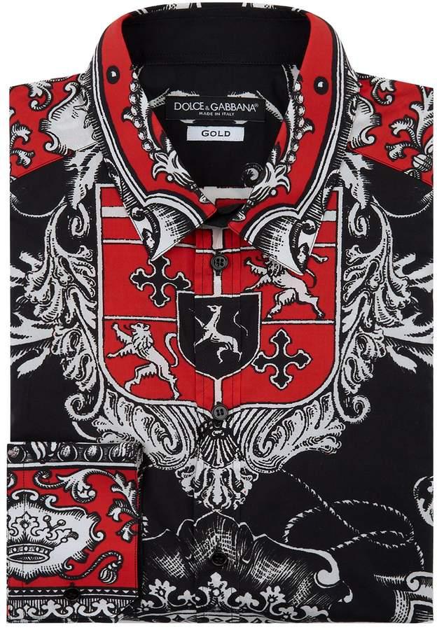 Dolce & Gabbana Coat of Arms Print Shirt