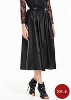 Full Length Leather Skirt - ShopStyle UK