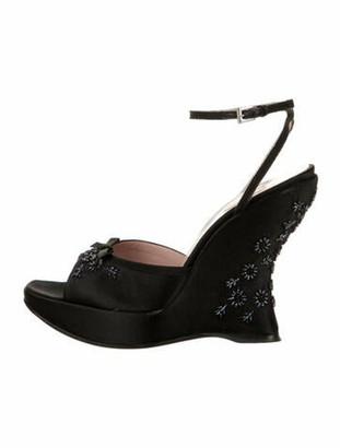 Prada Bow Accents Sandals Black